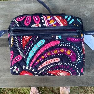 Painted Paisley Trimmed Crossbody